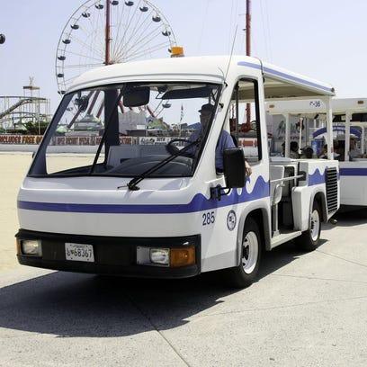 The Ocean City Boardwalk tram