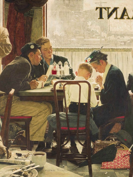 AP NORMAN ROCKWELL AUCTION A FILE USA