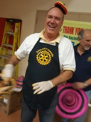 Dave Drumright, past president of the Rotary Club of