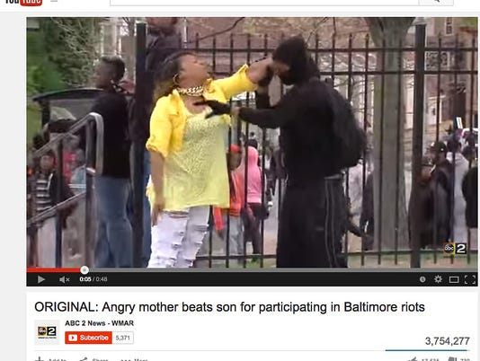 Mom, son speak out about their filmed spat during Baltimore protests