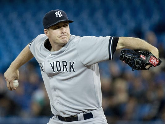 Yankees Chase Whitley at Toronto June 2014