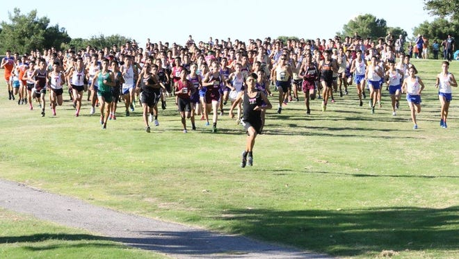 Franklin's Adam Cortez emerged the winner from close to 300 runners at Clint ISD's Coaching Legends 5K at Horizon Golf Course on Sept. 16.