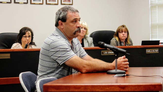 County Emergency Services Director Paul Quairoli discussed the purchase of a new fire engine for the Boles Acres Volunteer Fire Department at the county commission's regular monthly meeting Sept. 8.