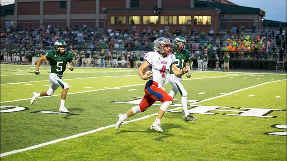 Junior quarterback Clark Gray gets the Patriots off to a hot start with a 53-yard TD run.