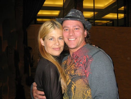 Andy Russ of Westwood met Linda Hamilton, star of the