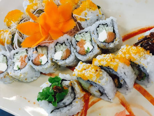 From top to bottom: a California roll, Philadelphia roll and a Spider roll from Soseki Sushi Cafe and Sake Bar in Iowa City.