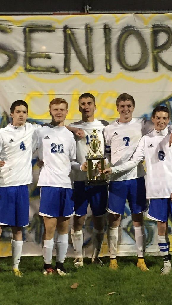 Seniors for the Highlands soccer team.