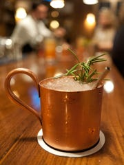 A Moscow Mule cocktail