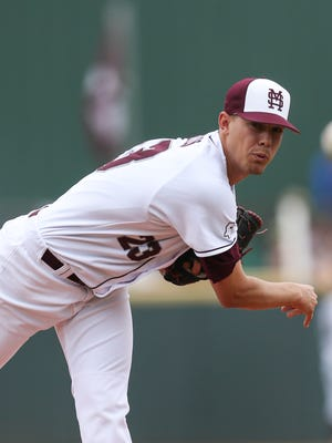 Mississippi State starter Austin Sexton struck out eight in eight innings on Friday.