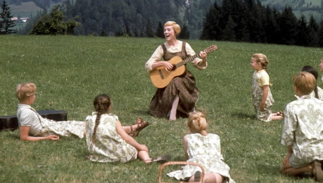 Maria (Julie Andrews) gives the Von Trapp clan a primer on singing in 1965's 'The Sound of Music.'
