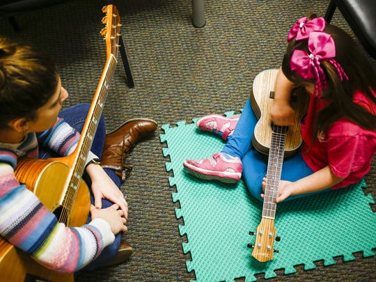 A student with an Empowerment Scholarship Account attends a musical therapy session at Musical Surprise in 2016.