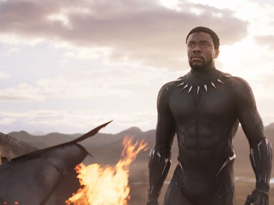 Actor Chadwick Boseman is shown in a scene from the