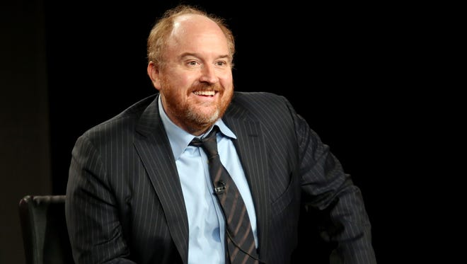 Louis C.K. speaks onstage during the 'Louie' panel discussion at the FX Networks portion of the Television Critics Association press tour at Langham Hotel on January 18, 2015 in Pasadena, California.