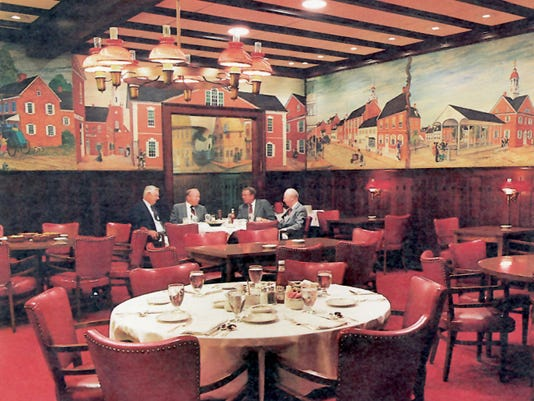 Here is a view of the murals in the former Lafayette Club.