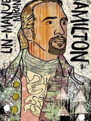 Jesse Kunerth's artistic piece of Lin-Manuel Miranda.