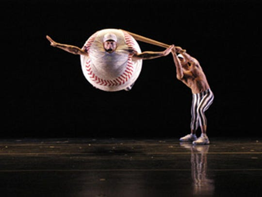 "MOMIX looked at our national pastime in ""Baseball."""