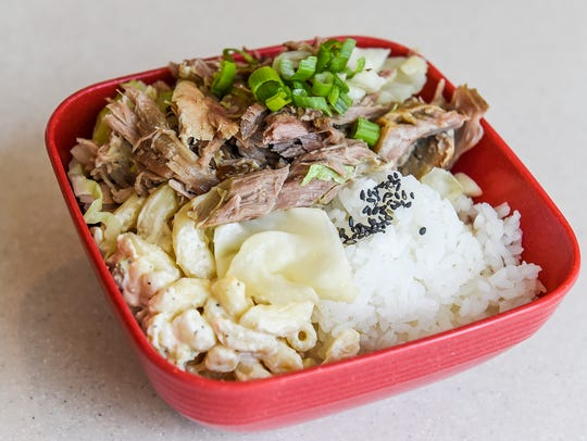 Kalua pig, a slow cooked pulled pork