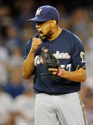 Francisco Rodriguez saved 44 games for Milwaukee in