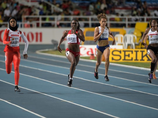 Pike sprinter Lynna Irby wins silver at the under-17 World Youth Championships at Cali, Colombia, on July 17, 2015.