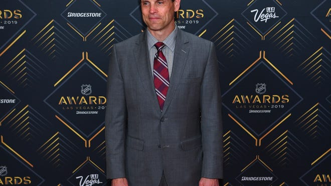 Don Sweeney is pictured on the red carpet during the 2019 NHL Awards at Mandalay Bay on June 19, 2019.