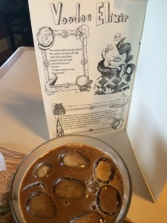 Voodoo Elixir - a true experience that you mix together yourself - complete with coffee vial