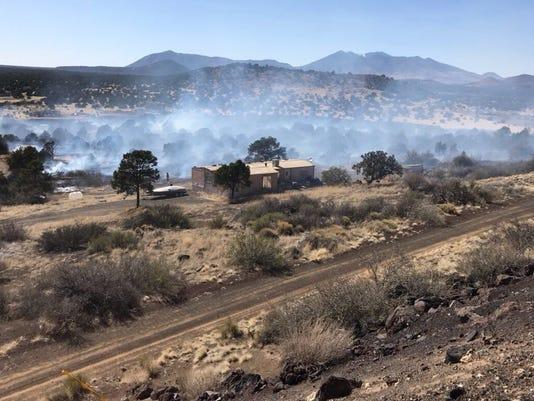 Copley Fire in Flagstaff, Arizona