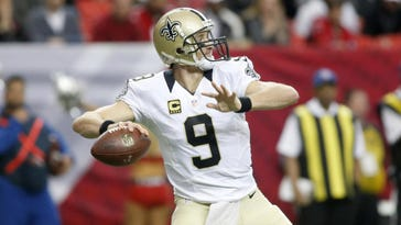 Jason Getz/USA TODAY SportsSaints quarterback Drew Brees attempts a pass during last season's game against the Falcons at the Georgia Dome in Atlanta. Jan 3, 2016; Atlanta, GA, USA; New Orleans Saints quarterback Drew Brees (9) attempts a pass in the third quarter against the Atlanta Falcons at the Georgia Dome. The Saints won 20-17. Mandatory Credit: Jason Getz-USA TODAY Sports