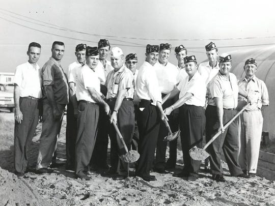 TRN archives In 1962, members of the Thomas Fowler American Legion Post 169 assembled near Lake Wichita for a groundbreaking on a new $16,000 prefabricated post home. Taking part were post dignitaries Ralph J. McGuire (front row, from left), Clayton Mann, Bruce A. Jackson, Frank Slavens, J.C. Mann; (back row) building contractor Buddy Byars, W.F. Meachum, George C. Owens, Hogan Chase, C.H. Langer, Leonard Raney, William D. Vick, W.E. Self and W.R. Wilcox.