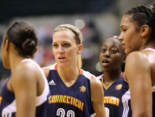 Katie Douglas made her return to Indy with a new team, the Connecticut Sun. The Indiana Fever hosted the Connecticut Sun in WNBA action Thursday May 29, 2014 at Bankers Life Fieldhouse.