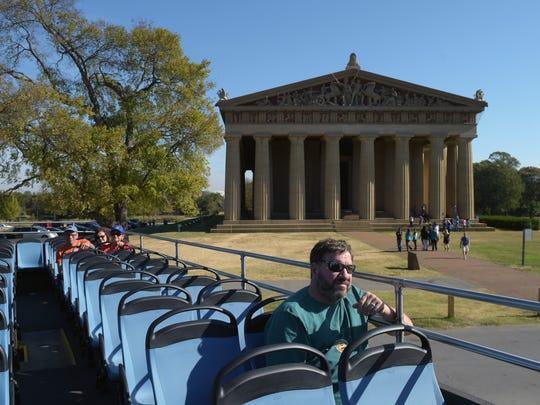Jeff Gordon of New York takes a tour of Nashville on