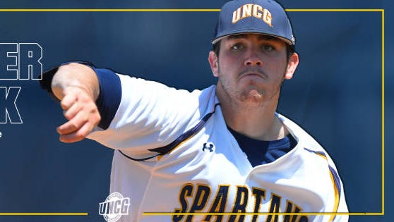 Former Enka baseball standout Matt Frisbee has been named the Southern Conference Pitcher of the Week.