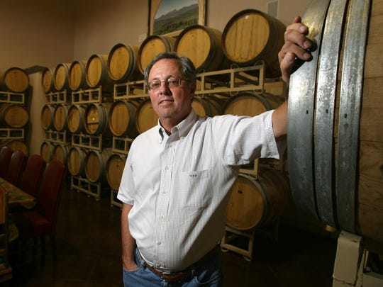 "Victor Poulos of Zin Valle Vineyards says getting wine sold at retail stores requires going through a ""three-tier' system."