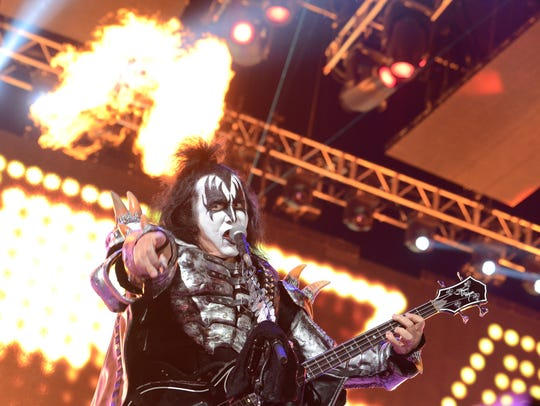 Thousands of fans attended the KISS concert on Aug.