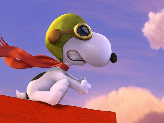 """Snoopy takes to the skies to battle his arch nemesis in the new film """"The Peanuts Movie."""""""