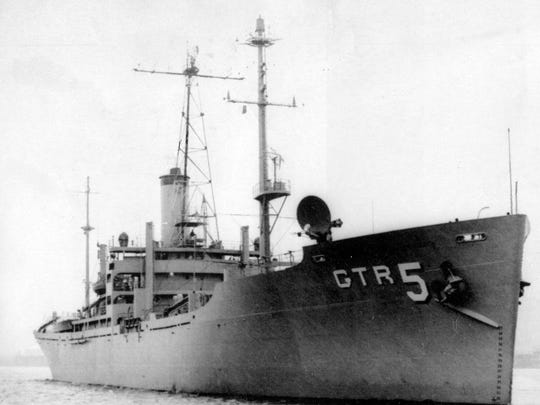 This is the USS Liberty which was attacked north of