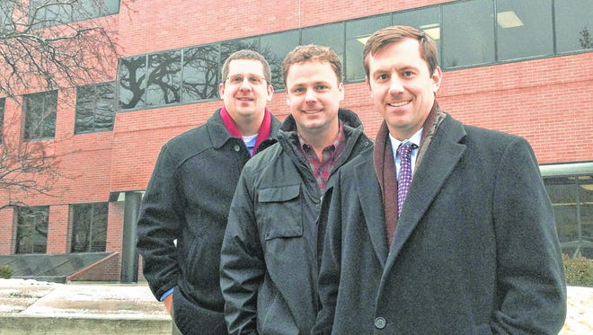 Midwest Growth Partners' leaders say their firm can help the state as well as investors. From left to right are Dustin Thomas, Mike Taylor and John Mickelson.