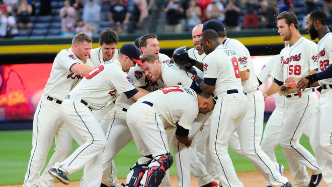 At 17-7, the Atlanta Braves have gotten great pitching and key hits, like Sunday's walk-off winner from Freddie Freeman.