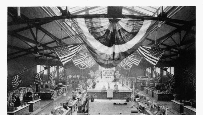 The interior of the Municipal Market, designed by Shopbell and Co., shortly after it was opened in 1918