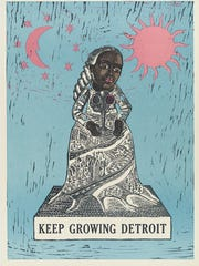 Renata Pabulinskas' poster for Keep Growing Detroit,