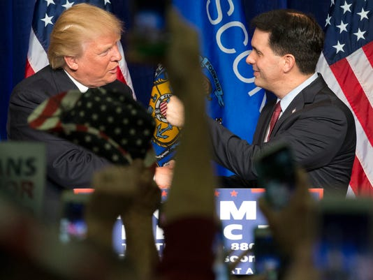 a202891dfdb Scott Walker says he would campaign with Donald Trump in Wisconsin