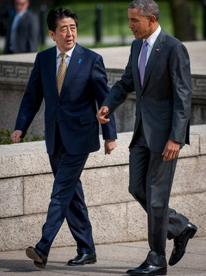 President Obama and Shinzo Abe discussed trade last week during the Japanese prime minister's visit.