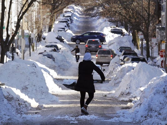 APTOPIX Winter Weather Boston