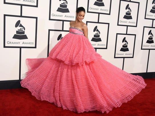 Rihanna's 2015 Grammy gown by Giambattista Valli was