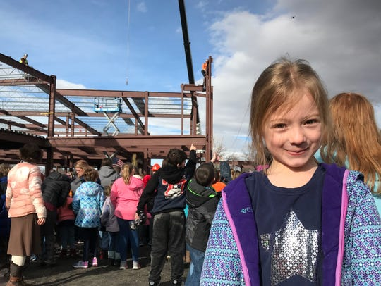 Lilly Harris, 6, is a first grader at Roosevelt Elementary.