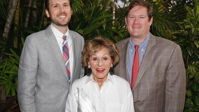 Brett England, Fran Weissler and Nick Bradham