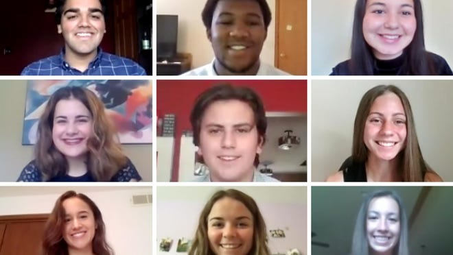 Recipients of the Rockford Register Star's 63rd Young Americans awards ceremony, held virtually on Friday, June 19, 2020 are, top row from left: Aryan Arora, Blake Coleman, Briana Reagan; middle row from left: Sophie DiBenedetto, Zeke Stockton, Jamie Ward; bottom row from left: Olivia Leyba, Kaitlin Milos, Paige Broski.