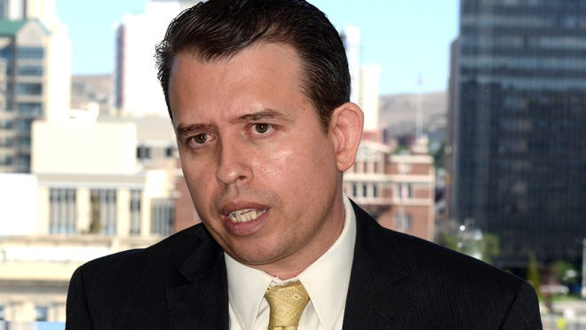 Pedro Martinez, former Washoe County School superintendent, talks about his Tuesday   removal during an interview at his lawyer's office on West Liberty Street Wednesday morning.