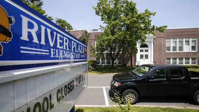 A first-floor water fountain at River Plaza Elementary School was among the three Middletown Township school locations were high concentrations of lead were discovered in water.