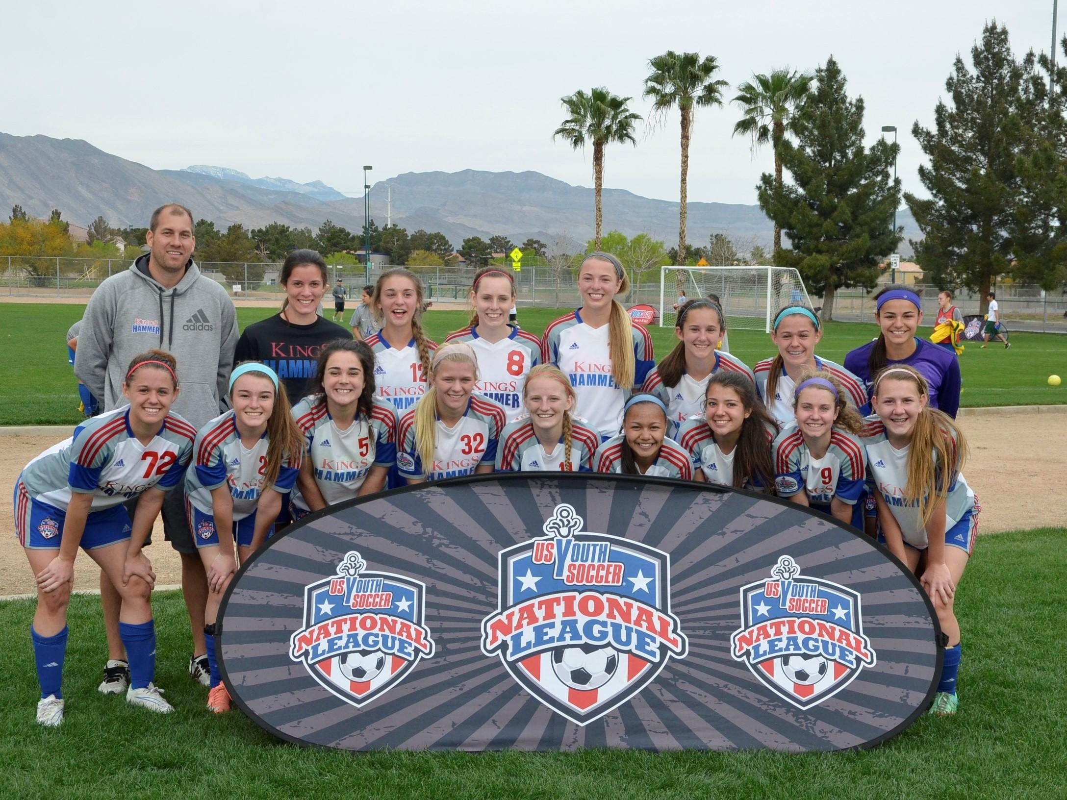 Kings Hammer Academy's U16 girls red team qualified to nationals.