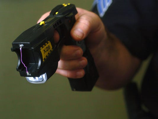 Taser X26 used by the Alexandria Police Department on Thursday, July 6, 2006.